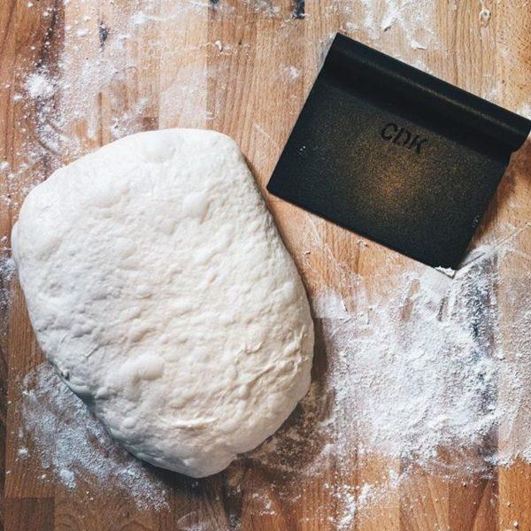 Campbells Dough Scraper and Knife with dough